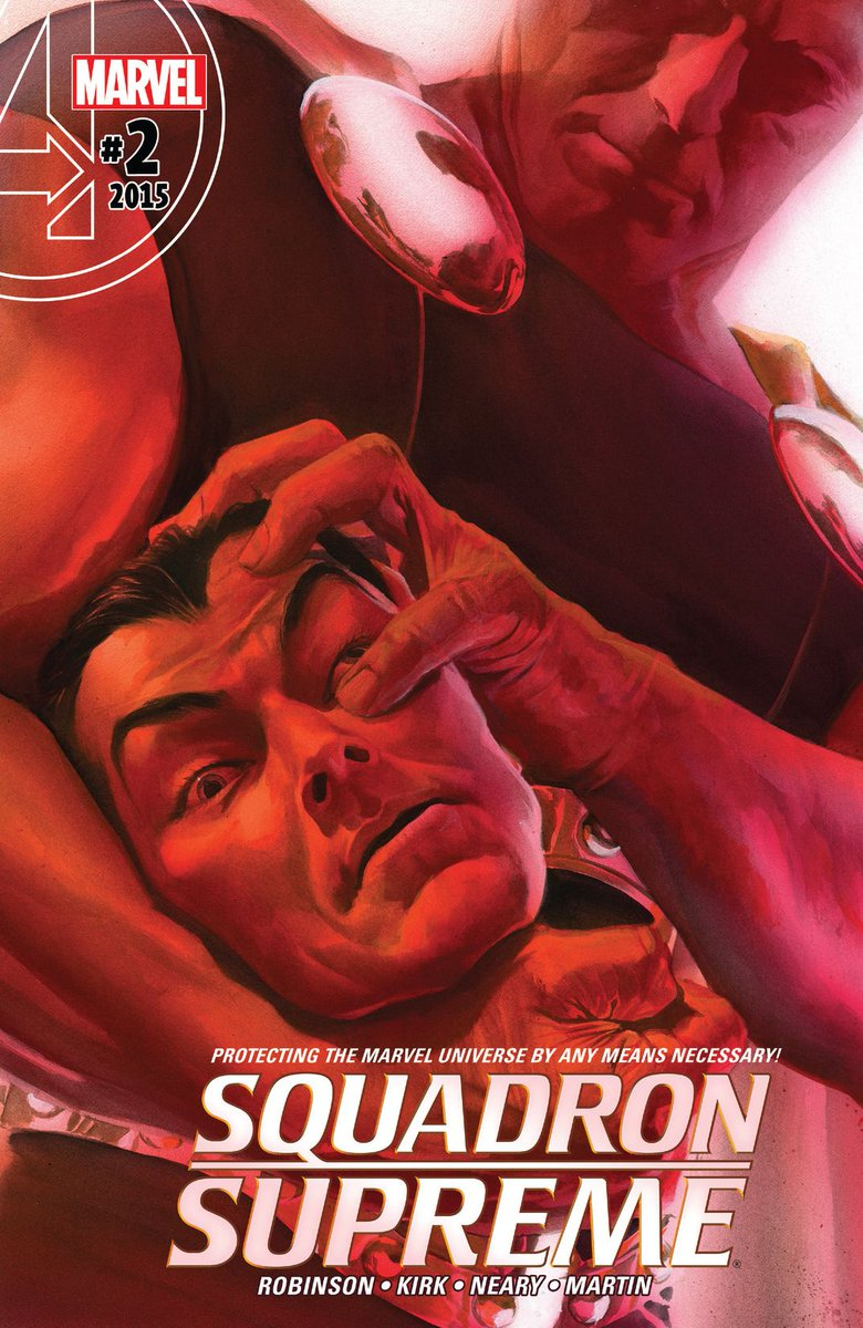 The cover to Squadron Supreme # 2 by Alex Ross. #alexross #jamesrobinson #squadronsupreme #hyperion #namorthesubmariner #marvelcomics #thecosmiccomicbookbroadcast #comicbookbroadcaster #ICON #comicbooks pic.twitter.com/LwH8RAkP5K