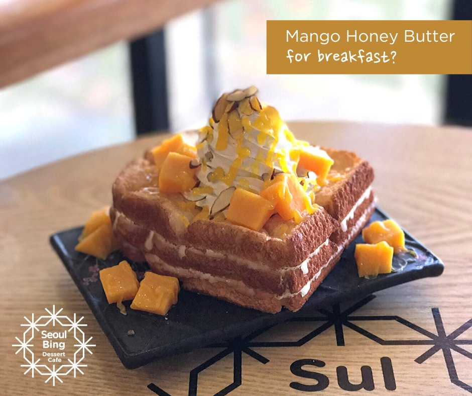 Didn't have breakfast yet? Why not get our Mango Honey Butter for only P180?  We have different meals that you might want to try to keep you on the go! #dessert #cafe #bingsu #milktea #frappe #toast #ramen #kimchi #goodmoments #lounge #jampongpic.twitter.com/IgoYgGd62f
