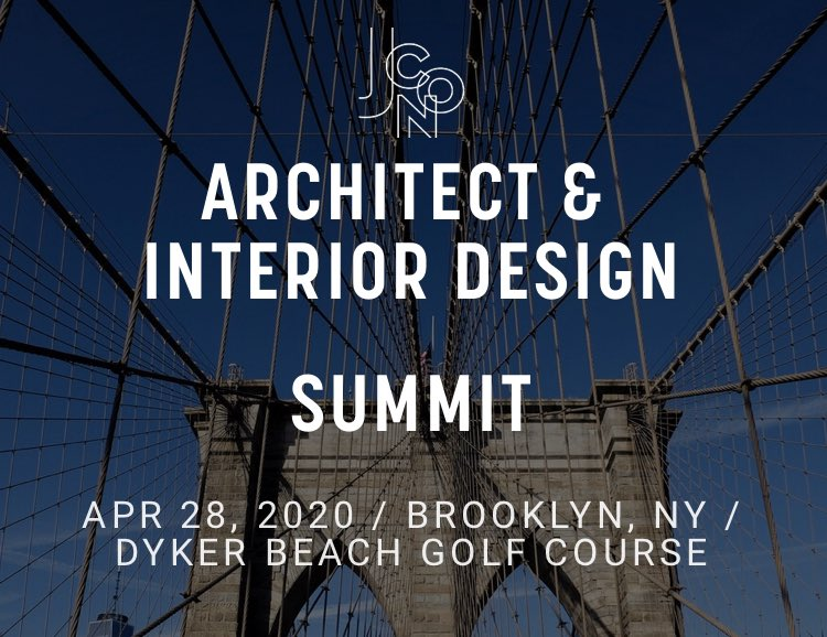 JCON Conferences is proud to announce our upcoming    Architect & Design summit  http://AttendJCON.com  Exclusive event, for Architects, Designers and space planners on Tuesday, April 28 at  the Dyker Beach Golf Course (Yes, Golf as well). pic.twitter.com/w1GxlcodSV