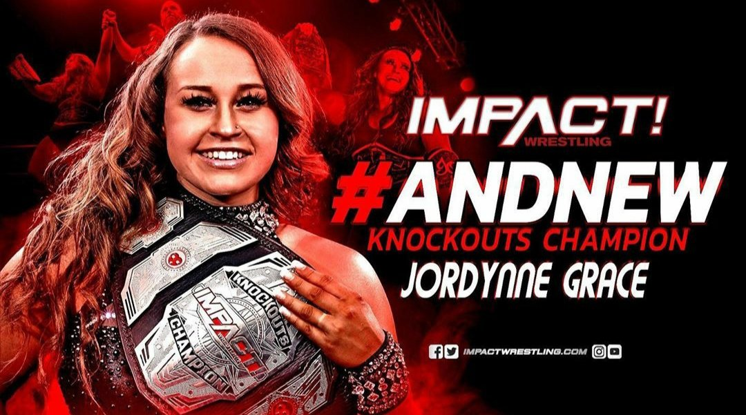 #AndNew #iMPACT Knockout Champion:Jordynne#AndNew @AEW Womens Champion:Nyla Rose#Wrestling #مصارعه