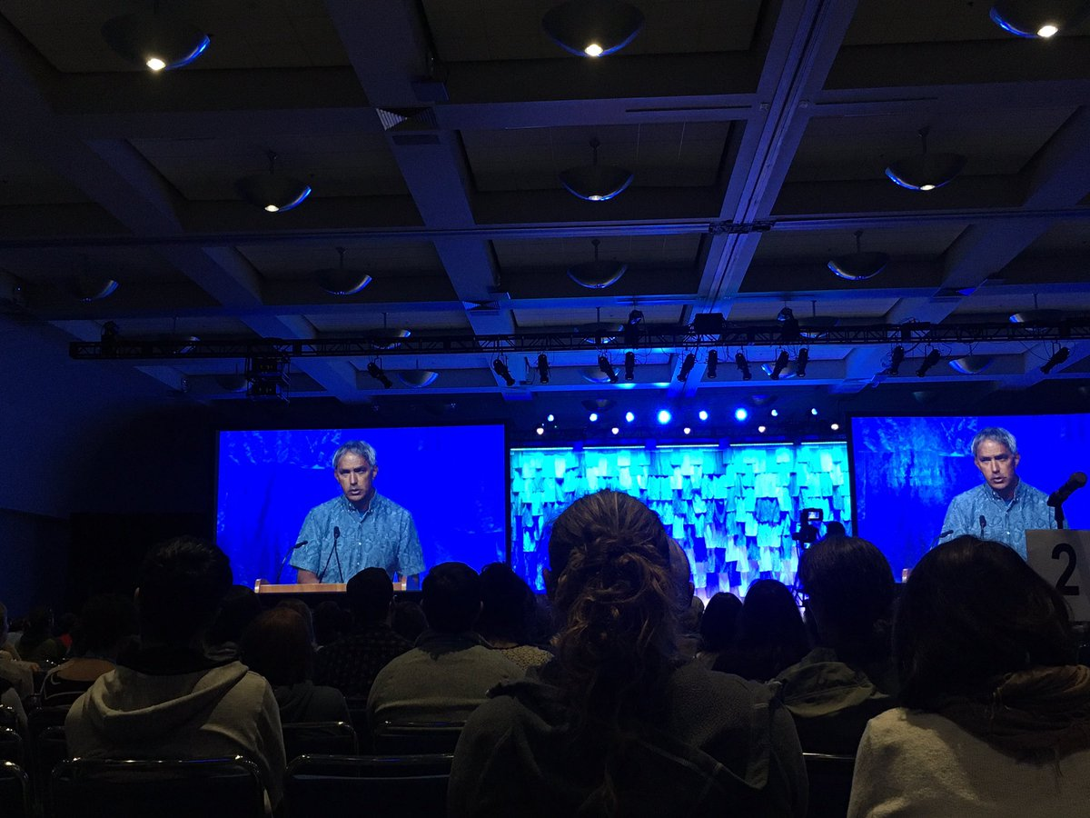 Great plenary talk at #OSM2020 by Nainoa Thompson about the Hawaiian Renaissance, Polynesian voyaging, and bringing together science and education #science pic.twitter.com/dy2aTbsgPJ