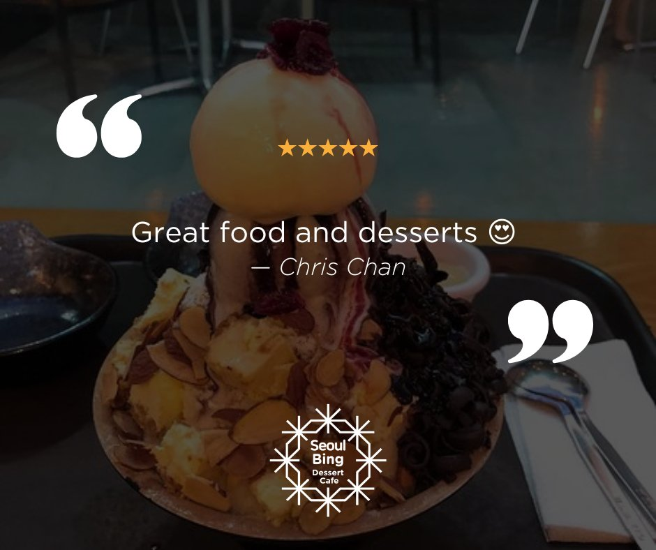 Chris Chan posted a sweet review on our Facebook page. Thank you for enjoying our desserts! We'd love to see you again next time. #dessert #cafe #bingsu #milktea #frappe #toast #ramen #kimchi #goodmoments #lounge #jampongpic.twitter.com/01AFRmmXsY