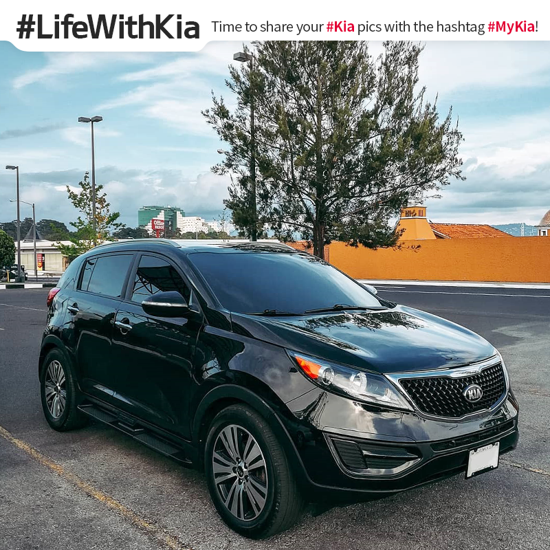 Black is the new cool. #LifeWithKia #Sportage <Photo courtesy of Instagram user @ bj_sportage>