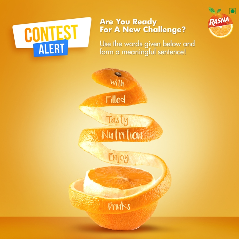 We are here with a #Contest for you!  Follow the steps and #win a #RasnaHamper 1. Write down the words on a piece of paper  2. Jumble the words and create a sentence  3. Continue till you are able to make a meaningful sentence  #Rasna #RasnaInternational #ILoveYouRasna