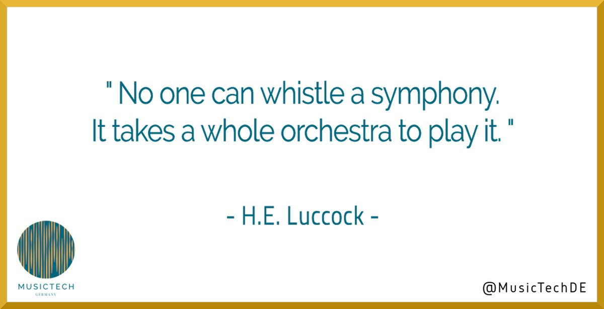 No one can whistle a symphony. It takes a whole orchestra to play it.   H.E. Luccock #MotivationalMonday #MindfulMonday #MondayInspiration #MTG #MusicTechGermany #teamworkmakesthedreamwork #successtip #successfulmindsetpic.twitter.com/6Tx3OwuWoD