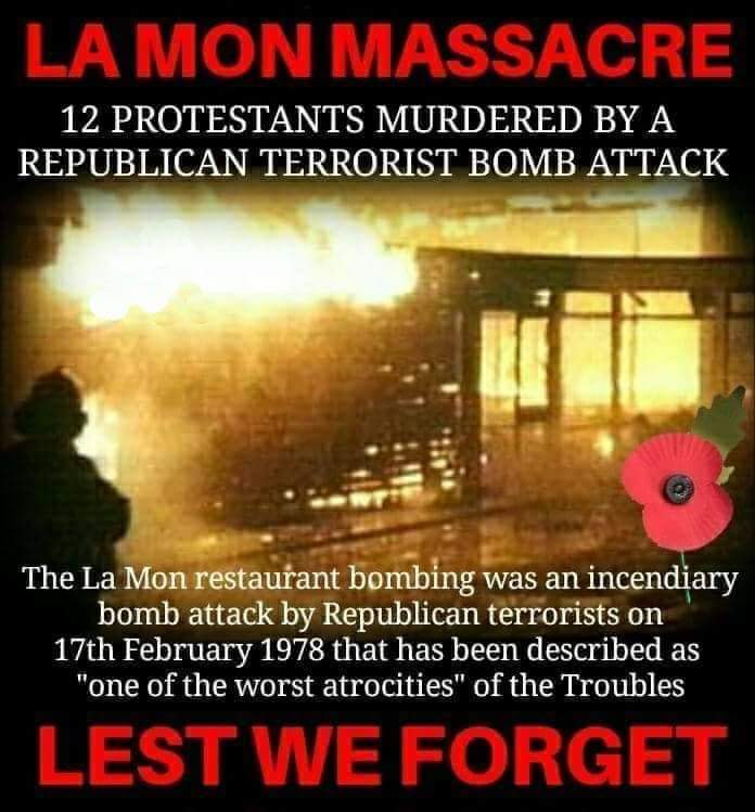 We will NEVER forget what Sinn Fein/IRA done to the country