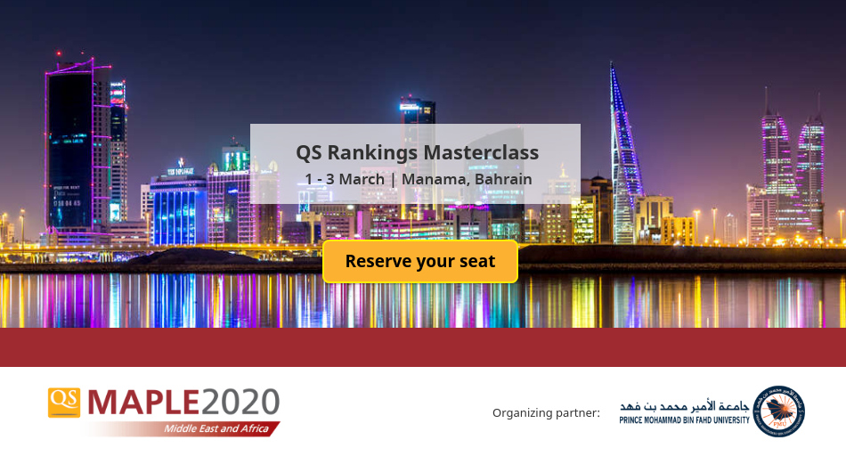 Do not miss the opportunity to attend QS Rankings Masterclass at #QSMaple2020! Gain insight into global and regional #university performance as well as into the underlying methodologies  and the entry requirements considered for #rankings.   Register now: http://bit.ly/qsmaple2020 pic.twitter.com/8j7EWcZxBY