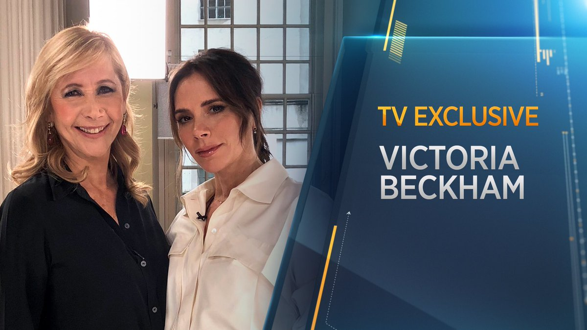 Watch my TV exclusive with @victoriabeckham from her @LondonFashionWk #VBAW20 show coming up on @CNBCi @SquawkBoxEurope 8.45am UK and @StreetSignsCNBC 9.45am UK