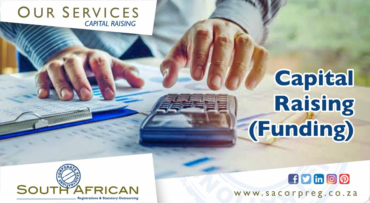 We have experience in raising private capital for clients with a broad range of needs. Call us now for a consultation 011 440 1077 / support@sacorpreg.co.za http://www.sacorpreg.co.za   #CorporateRegistrations #BusinessRegistrations #BusinessServices #CapitalRaising #TaigeisDigitalpic.twitter.com/V2WYpPomvr