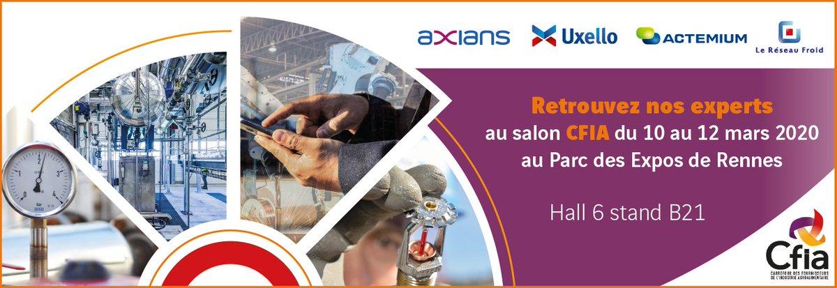 A vos agendas ! Nos équipes seront présentes @CFIAexpo de Rennes.  Venez échanger sur vos problématiques en #agroalimentaire et #EfficacitéEnergétique, #ecoefficiency 🗓 Du 10 au 12 mars 2020 📍hall 6 - Stand B21