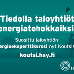 Image for the Tweet beginning: Suosittu taloyhtiön Energiaeksperttikurssi on nyt