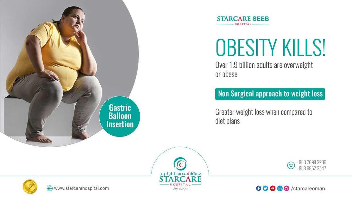 Obesity is not about appearances - its is a medical condition that can lead to  onset of number of conditions like heart diseases and diabetes and lead to early death. Dr Siva Prasad, Specialist, Gastroenterologist at Starcare hospital does the gastric balloon insertion. pic.twitter.com/ke90FHE7bv