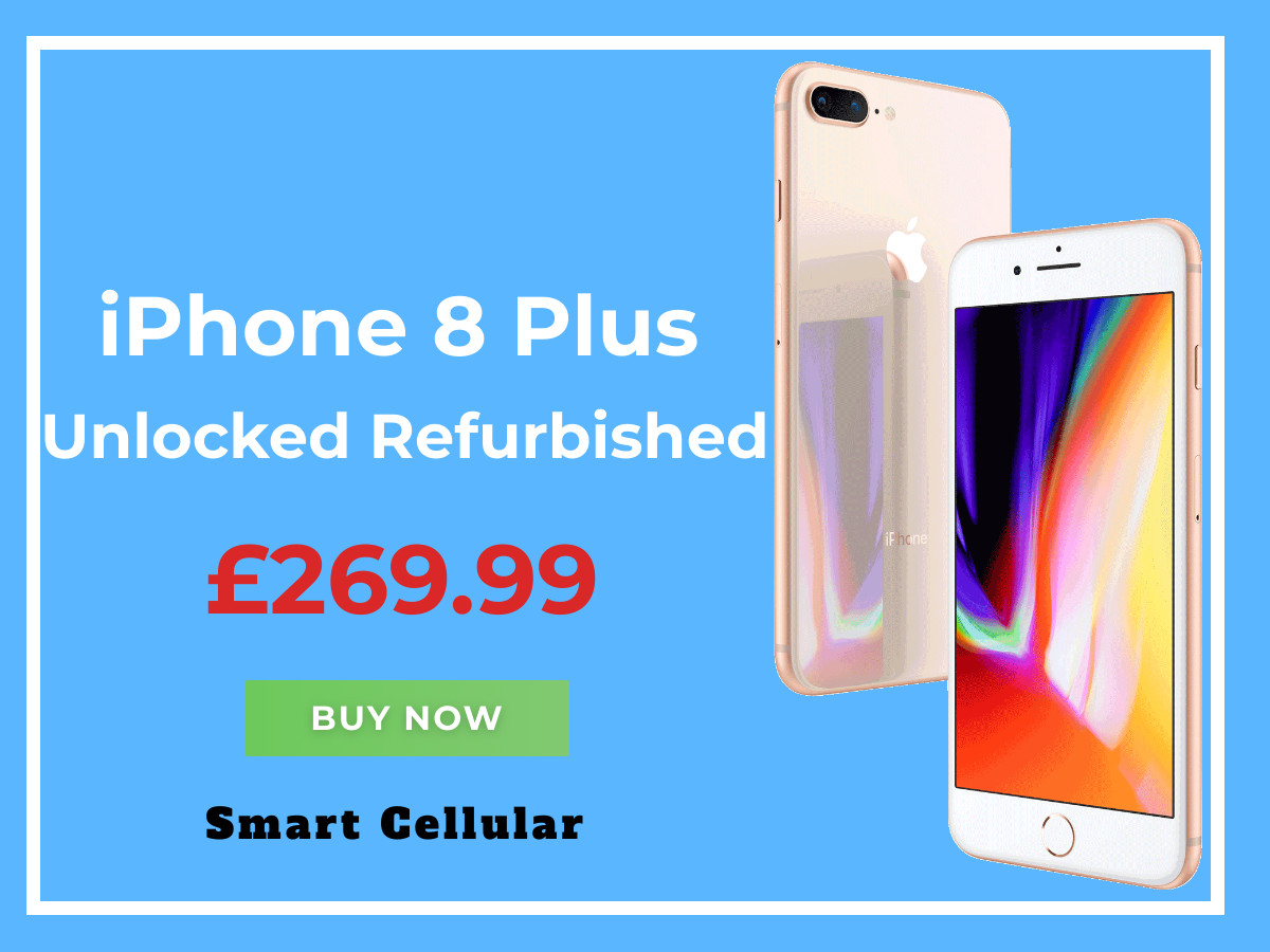 Refurbished Unlocked iPhone 8 Plus. Start From £269.99 Almost New. Except for the Price  12 Months Warranty  30 Day Money Back Guarantee  Free Shipping to UK & Europe  £20 Worth of Free Accessories https://www.smartcellular.co.uk/  #iphone8plus pic.twitter.com/ZI4nSHhATN
