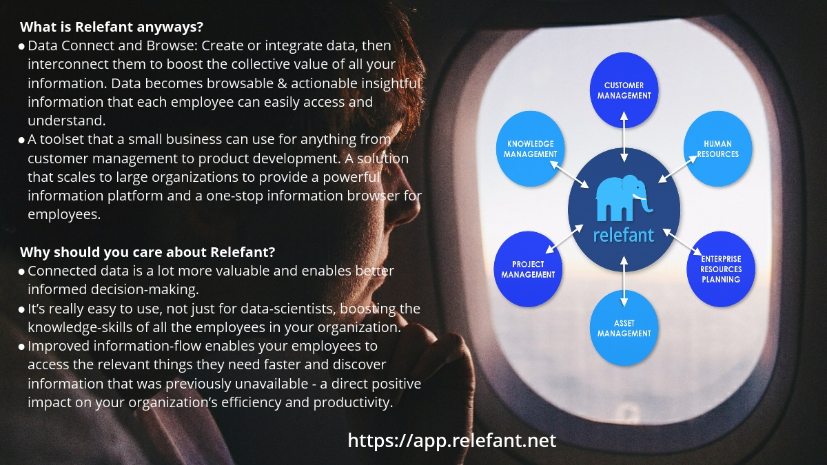 Connected, Browsable & Actionable insightful information all employees can easily access & understand.    Better information-flow to access & discover key insight faster = a positive efficiency & productivity impact. @RelefantHQ  https://app.relefant.net #enterprisetech #data #hrpic.twitter.com/nWCUFRIhGY