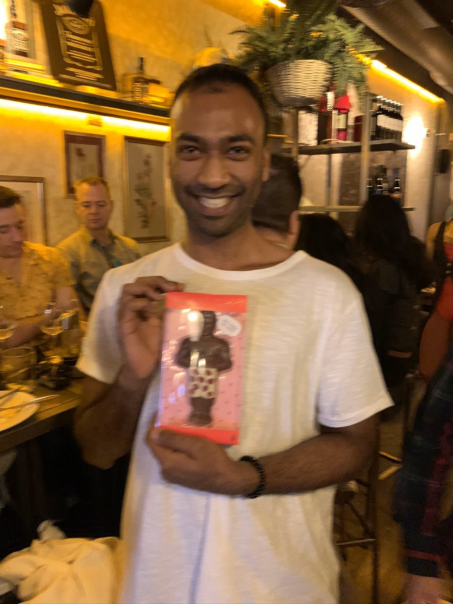 Best @BingoDrag yet yesterday. Especial thanks to Zaynes's  group from Madrid's IE business school who were a riot . Here's Zayne with his prize for winning the first round of bingo! @Lola09Madrid https://t.co/GS0yHU9ooO