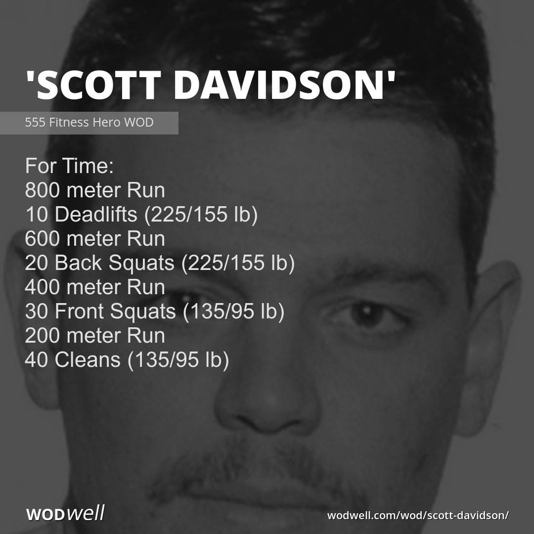 Firefighter Hero WOD from @555fitness dedicated to Scott Davidson, FDNY, Ladder 118, who was killed on September 11, 2001: https://wodwell.com/wod/scott-davidson/…  #herowod #memorialwod #tributewod #wodwell #wod #fitness #functionalfitness #fitfam #crossfit #benchmarkwod #testandretestpic.twitter.com/mkbFerQcb6
