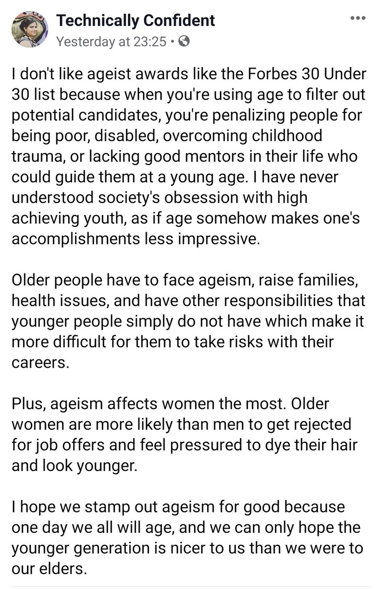 @Naba_Rizvi hits the nail on the head - very well said  #ageism #DiversityandInclusion #awards pic.twitter.com/ohcWSVBHQB