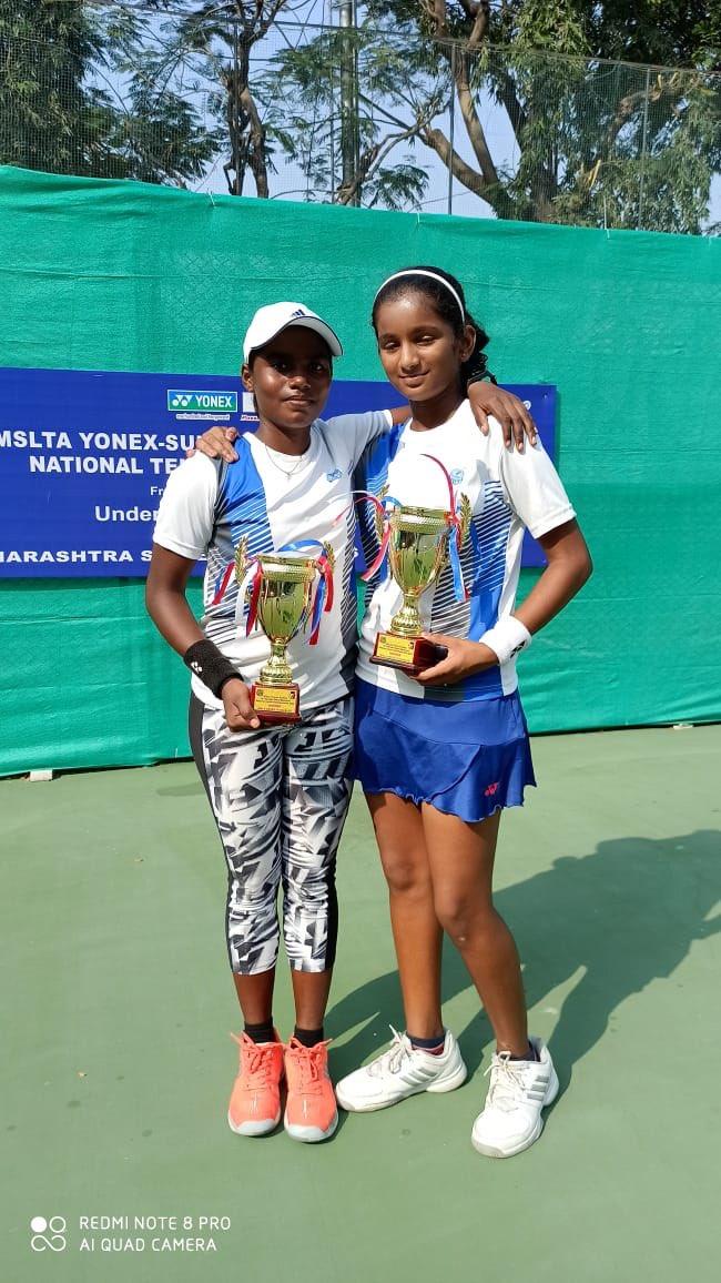 Thaniya won Singles Title and Doubles Title Ramesh Desai Nationals in Mumbai.  Thaniya & Nainika Reddy beaten Divya Ungrish & Aakruthi Sonkusare.  7-5, 7-6(7-0) #SaniaMirzaTennisAcademy is proud of her ..