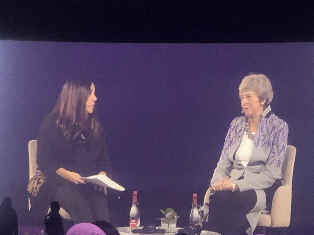 """Women are better listeners overall than men, and this is important in politics in order to listen to what people need."" @theresa_may #WeFiSummit #GWFD2020 @DubaiWomenEst #skills #womeninpolitics"
