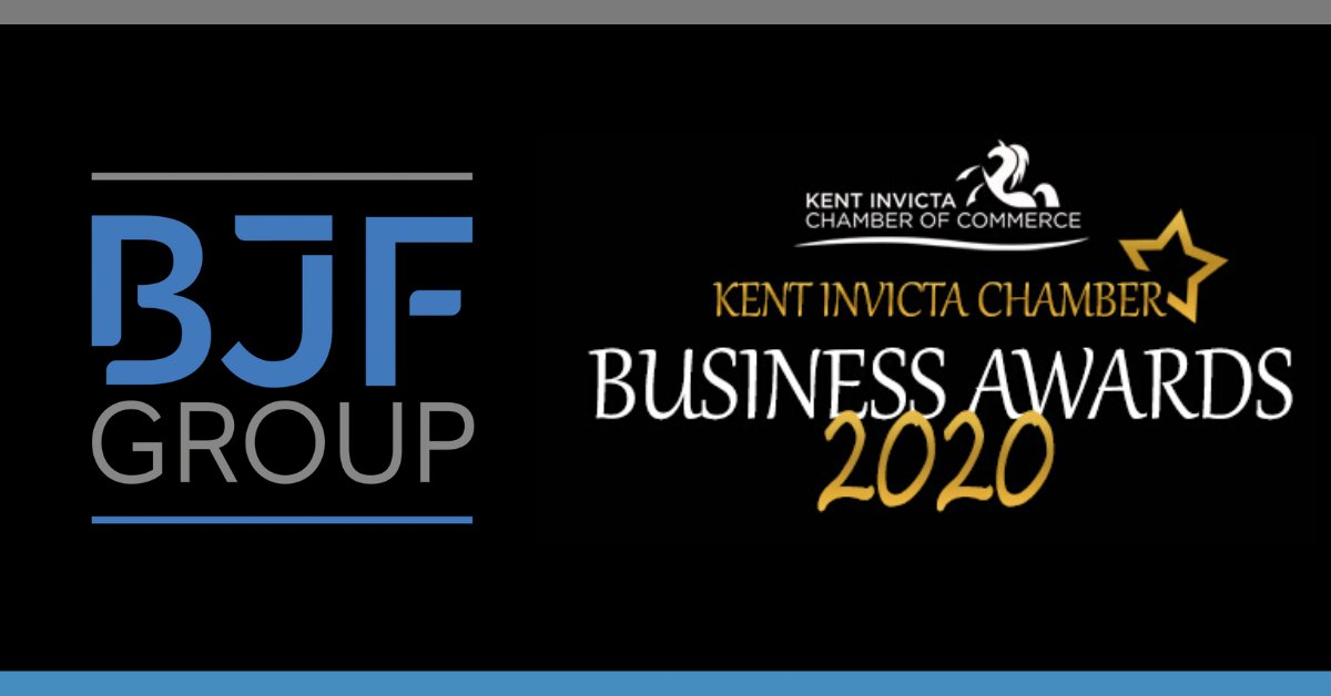 We're finalists!  We are delighted to announce that we have made it to the finals for Business of the Year 2020 at the @InvictaChamber  awards 2020!  What a great start to the week!  #MondayMotivation #Awards #Kent #BuiltByBJFpic.twitter.com/ugenikkgCq