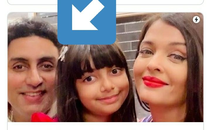 Who's this girl @juniorbachchan ?  She looks like you.  #AishwaryaRaiBachchan #abhishekbachchan #AmitabhBachchan