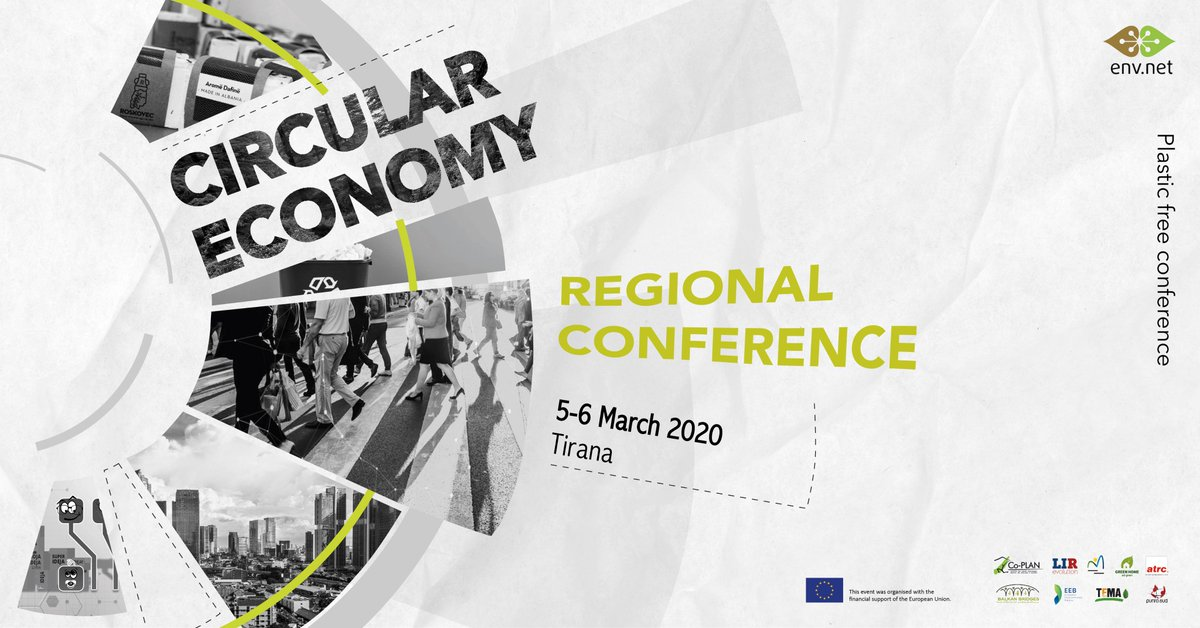 #ENV-net is organizing for the 2nd year the regional conference on #circulareconomy.  The network, was created for the implementation of a join action in #WestBalkan and #Turkey: giving citizens a voice to influence the environmental process reforms for #EUintegration. pic.twitter.com/QxuoSsPYox