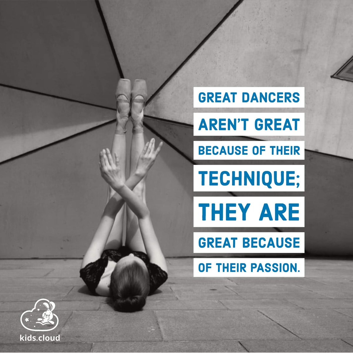 Great #dancers aren't great because of their #technique, they are great because of their #passion.