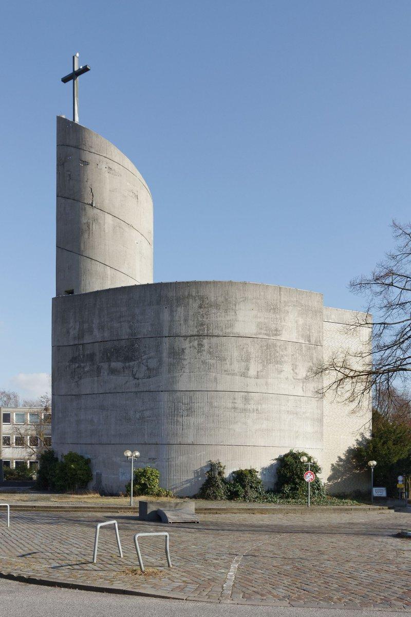 Spiral church:  Jo Filke: St. Maximilian Kolbe, Hamburg, Germany, 1972–1974  http://sosbrutalism.org/cms/17107264  Photo: Dirtsc 2016 (CC BY-SA 3.0)   #SOSBrutalism