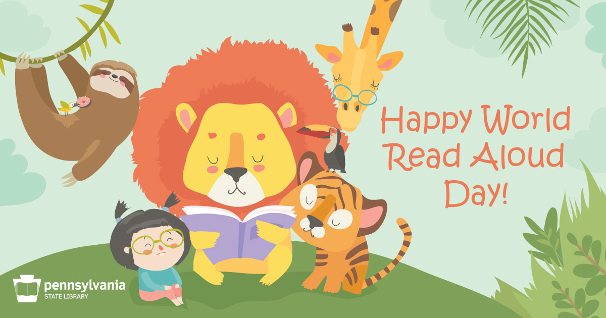 📖 Today is #WorldReadAloudDay! How can you celebrate? Grab a book + gather an audience + READ! 📚
