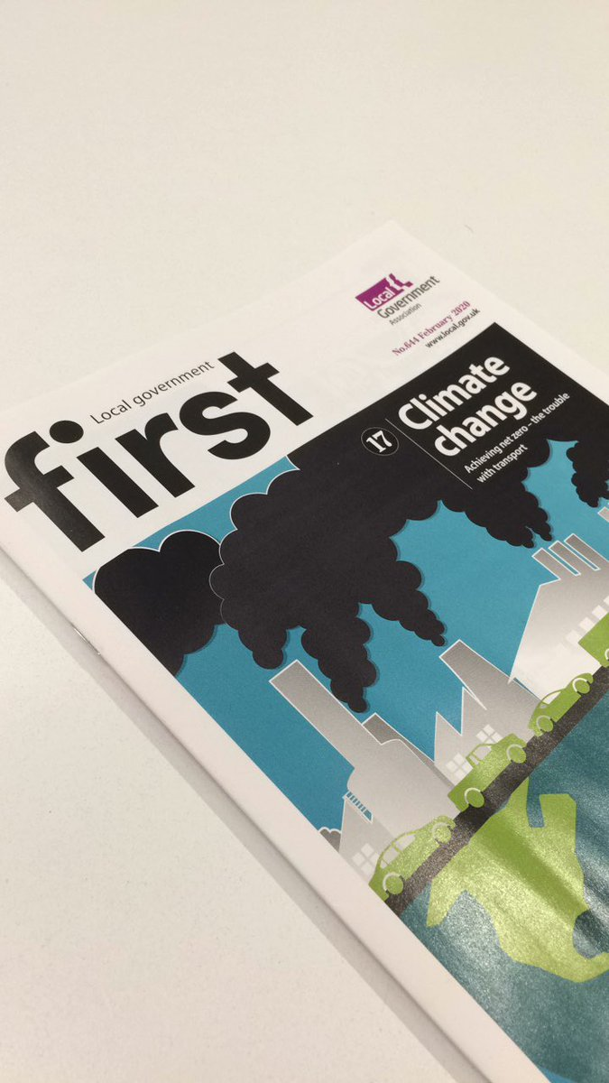 "Two great features for some lunchtime reading in the office today...  @LGAcomms First magazine ""Investing in #EnergyEfficiency"" (Cllr Clare Coghill, @wfcouncil)  & ""#Transport and the #ClimateEmergency"" (Greg Marsden, @UniversityLeeds)  READ: https://t.co/D4JDM8UOox"
