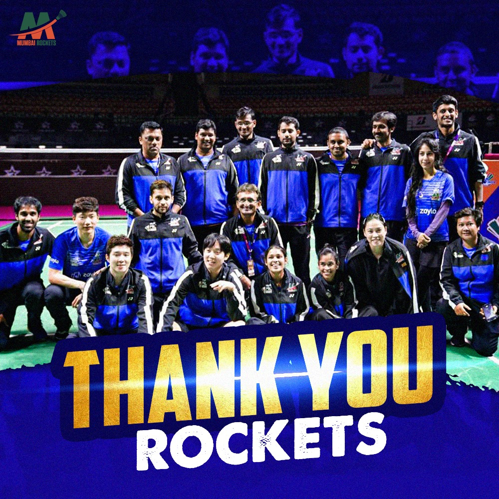 The season might be over, but the memories will stay on forever! ❤Until next time, keep soaring 🚀🚀. 👋#Mumbai #MumbaiRockets #PBL #BadmintonIndia