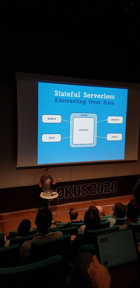 Enjoyed a great session about #cloudstate with @jboner at #jfokus2020. Very interesting