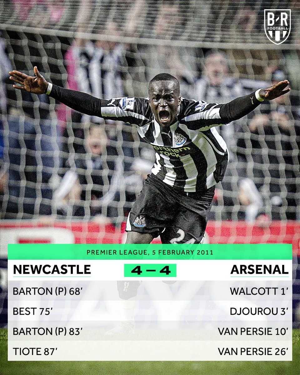 B R Football On Twitter On This Day In 2011 Newcastle Came From Four Goals Down To Draw 4 4 With Arsenal The Premier League Goals Were Flowing That Day Https T Co P3daugtpii