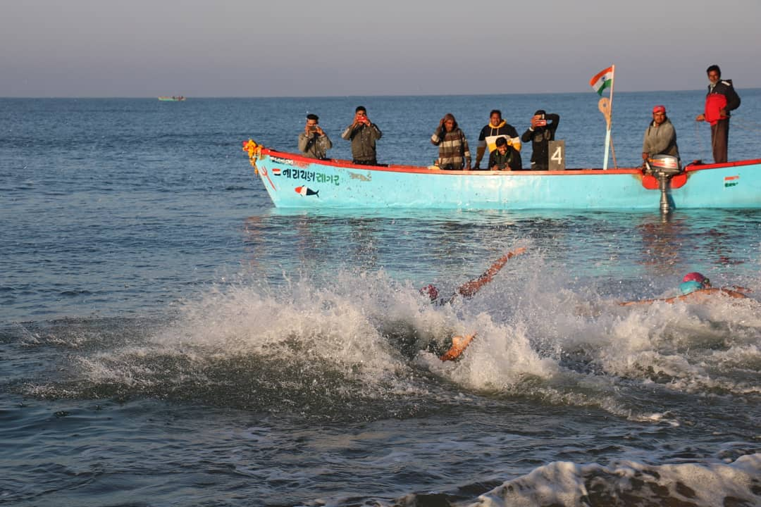 31st Veer Savarkar All India Sea Swimming Competition held off Gujarat coast