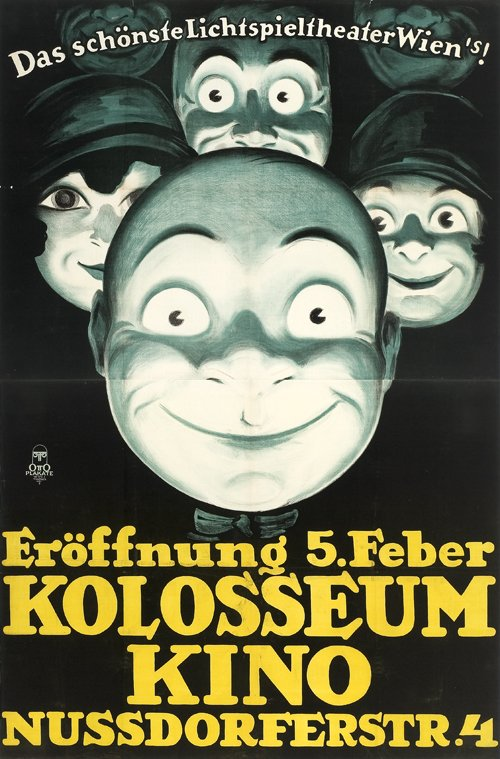 5 February 1925: the opening of the Kolosseum-Kino - 'das schönste Lichtspieltheater Wiens' (poster designed by Otto Löbl) pic.twitter.com/futvOKQ6Gf