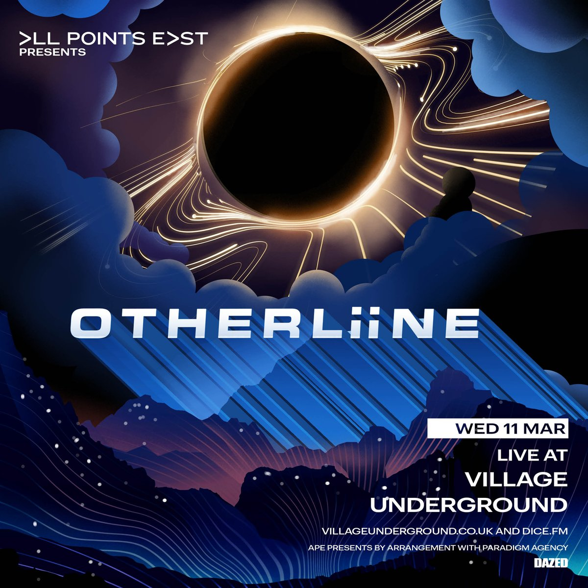 OTHERLiiNE LIVE at @villageunderground on 11th March // Only headline show we're playing, so we want to make it special // Venue will run at a smaller cap to accommodate audiovisual experience tailored to the record. Tickets limited. On sale Friday 7th Feb @ 10am - Don't sleep!