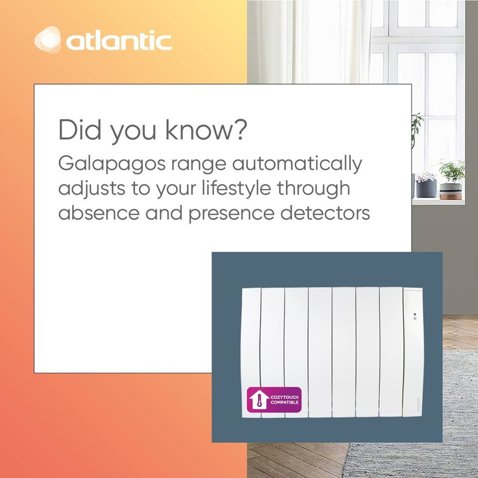 Did you know the Galapagos range features absence and presence detectors? This handy feature helps to maximize energy efficiency in your home - https://www.atlanticheat.co.uk/  #electric #atlantic #heating #panelheaters #smartfeatures #smarthomepic.twitter.com/DRwY8WG1ED