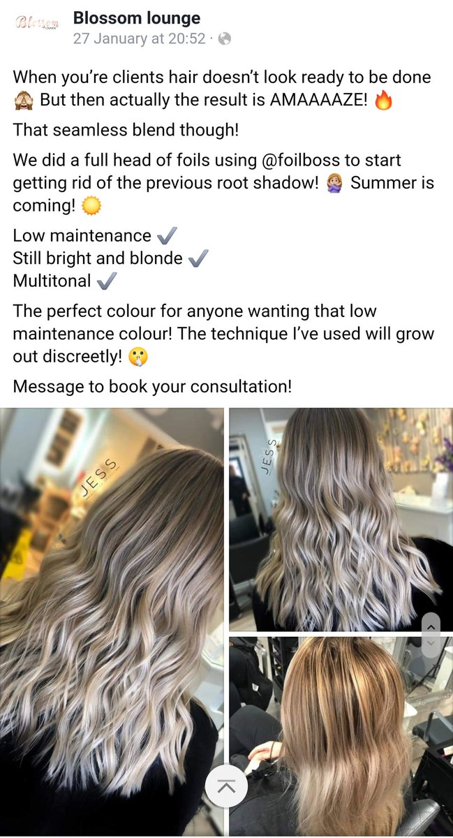 Always lovely to see our foils being used.  Jess @ blossom lounge in Chesterfield creating beautiful hair using FOILBOSS EXTRA WIDE   #foilboss #blossomlounge #chesterfield #hairsalon #hairfoil #HairLove #haircolor #HairLove #hairstylepic.twitter.com/kN3eox7FrT