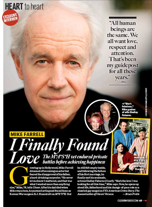 """February 6:Happy 81st birthday to actor,Mike Farrell(\""""M*A*S*H\"""")"""