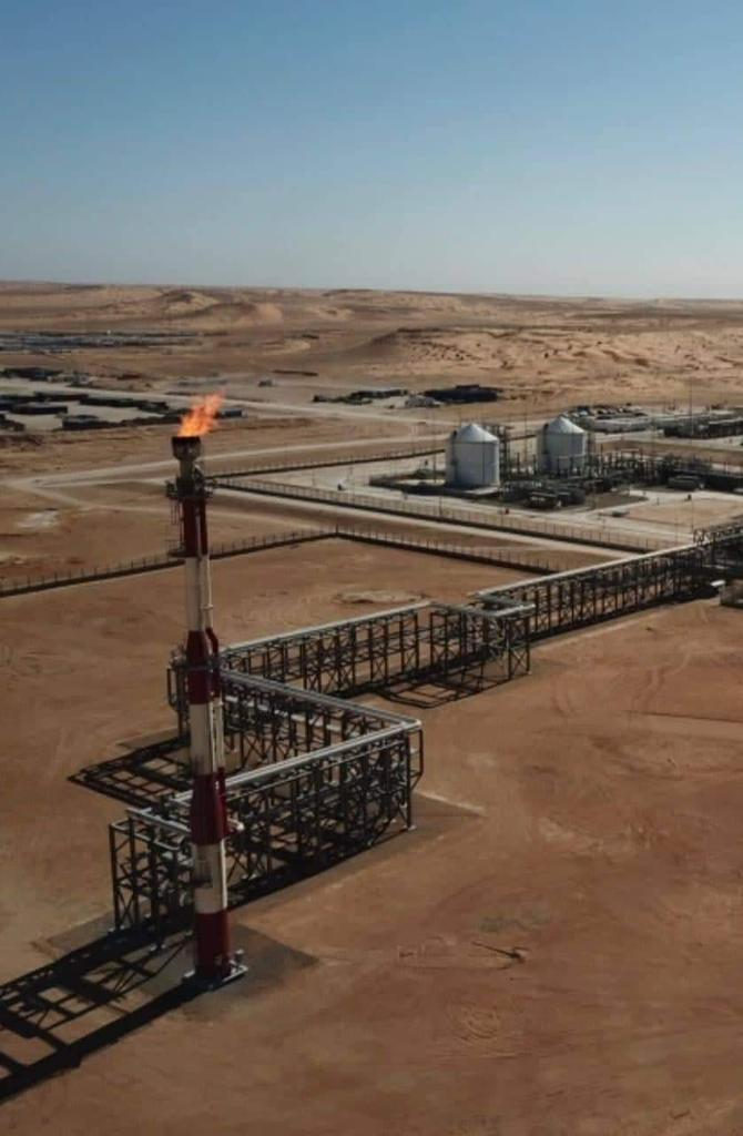 First Gaz @ #Nawara field in Tataouine.Historic day for Tunisia. Game changer # energy sector in Tunisia... $1.2 billion investment. daily production of 2.7millions m3, 7000 barrels of oil and 3200 BOE of LPG daily production. # thanks for the hard teamwork ETAP and OMV🇹🇳 https://t.co/yFCf8Ch3pw