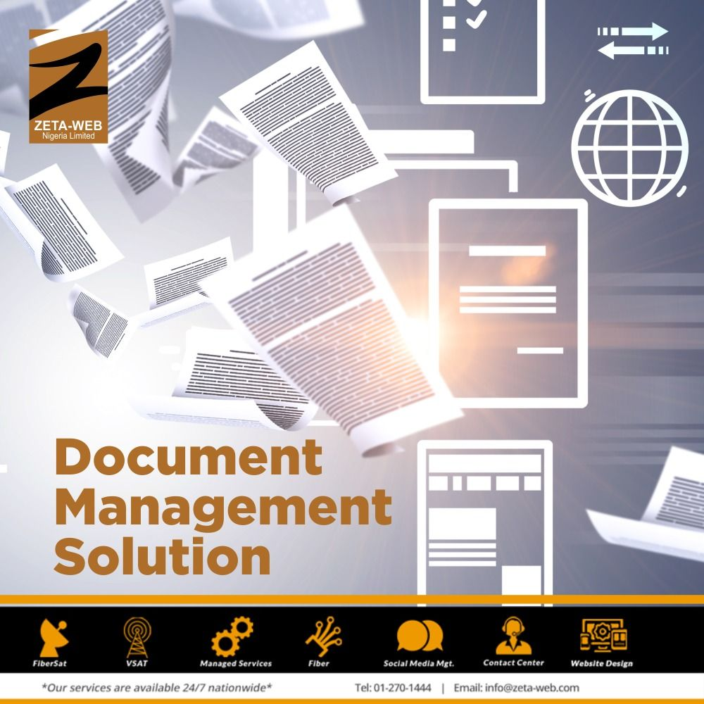 Zeta Web Nigeria On Twitter Our Experienced Document Management