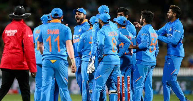 International Cricket Council (ICC): India have been fined 80 percent of their match fee for a slow over-rate in the first ODI against New Zealand. #IndiaVSNewZealand (Pic source: ICC) <br>http://pic.twitter.com/bHG98quJHB