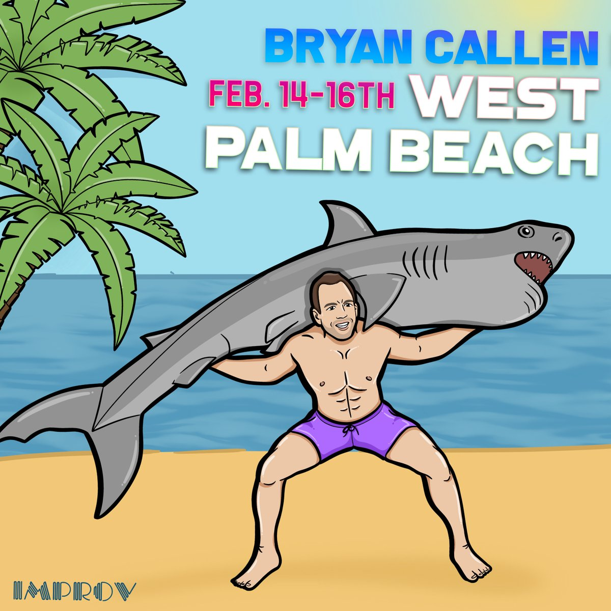 Florida! I'll be in #WestPalmBeach @pbimprov the 14th-16th! 🦈🦈 🎟🎟 bit.ly/callen-wpb