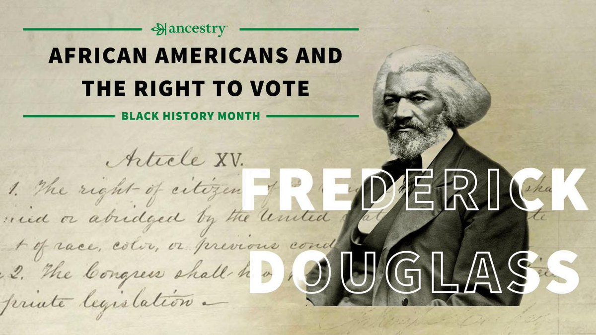 Ancestry® honors #BHM by highlighting African American figures who fought for universal suffrage.   Frederick Douglass helped change attitudes about slavery, and fought alongside leading abolitionists to win freedom and the right to vote. Read more: