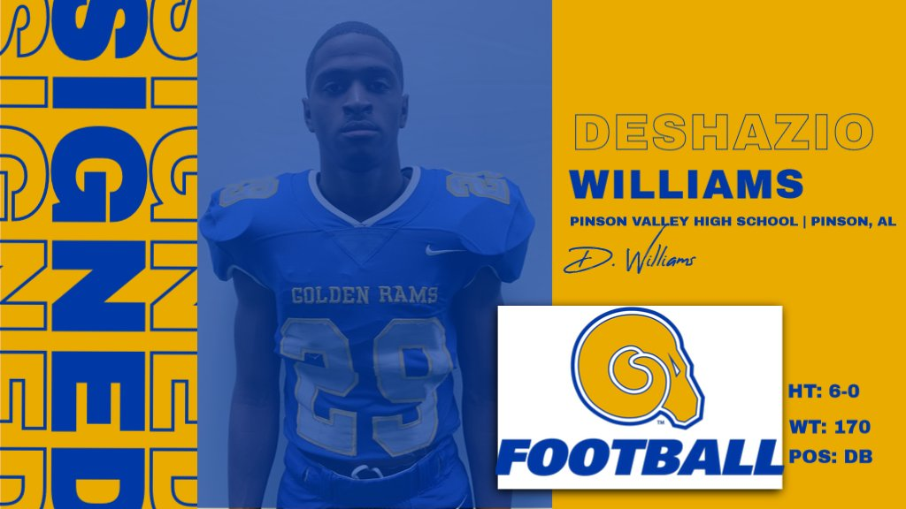 Welcome to the RAMily Deshazio Williams!  #NSD20 #BanyBuilt20 https://t.co/x7KV9wnG0U