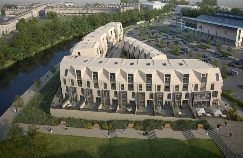 That is a new angle, as is the huge surface car park your award winning new homes look over!