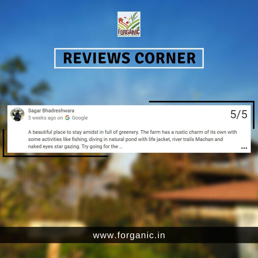 We always thrive to give our best and such warm words keep us motivated to do more. https://t.co/nHkCBmHv2G . . #forganicexperience #Forganic #tentstay #Khopoli #mumbai #pune #review #reviewtime #happyguests #guestreview #travelandtourism https://t.co/lN2YaPObSA