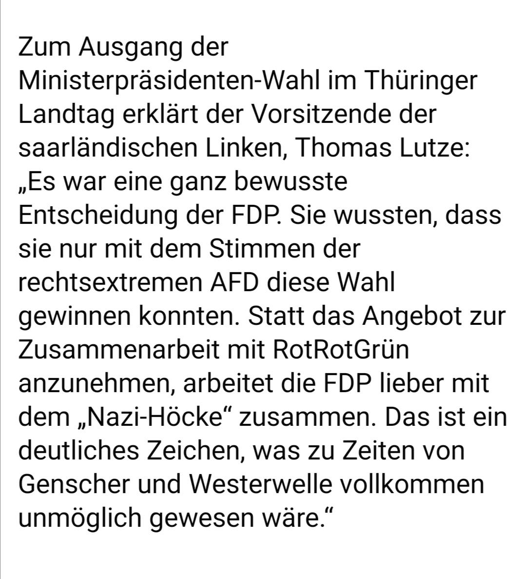Wahl in Thüringen