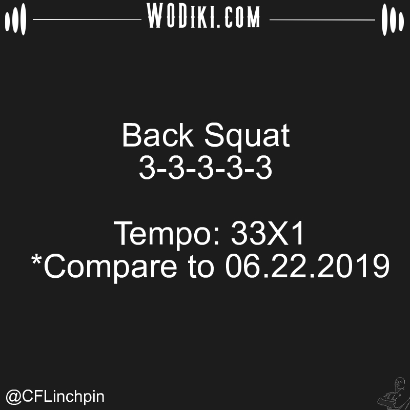 WOD 02.05 by @CFLinchpin  Good things come to people who wait, but better things come to those who go out and get them. #crossfitaddict #backsquat