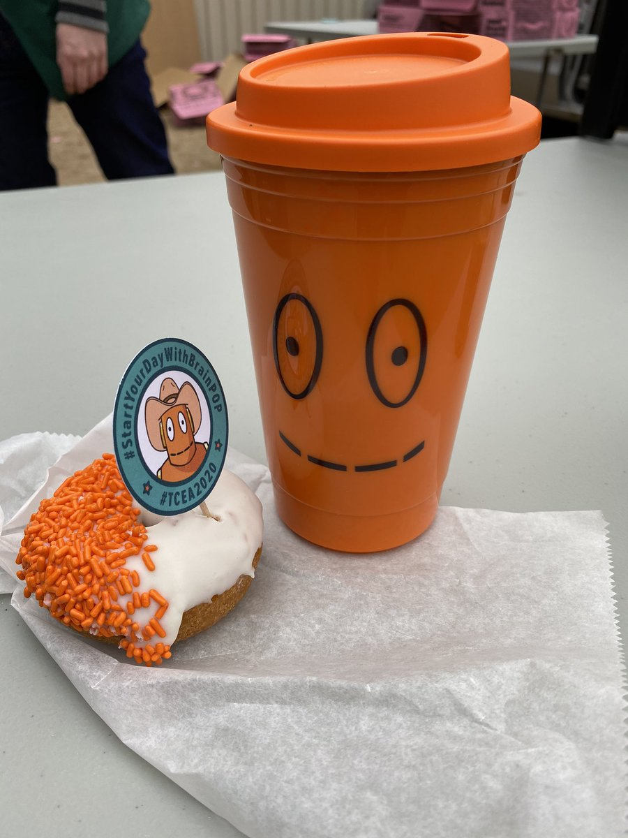 Having donuts with Moby this morning! @brainpop @TCEA @CFBDLS #TCEA2020